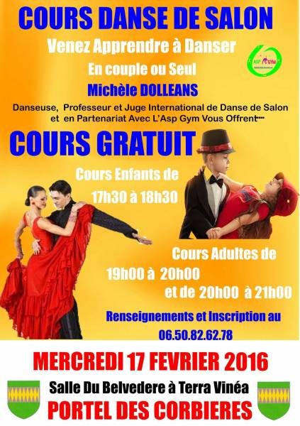 Site officiel de la mairie de portel des corbieres for Cours de danse de salon 92